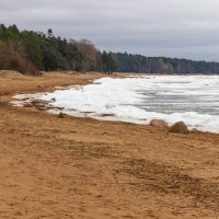 Финский залив в Комарово зимой