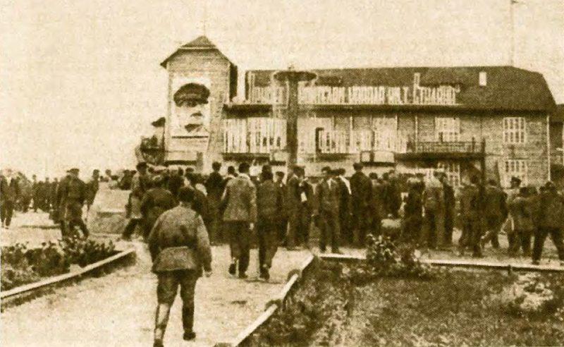 Деревянное здание клуба Дмитлага