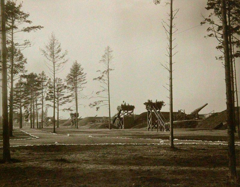 "Форт ""Красная Горка"". Батарея 11-дюймовых пушек. 1914 год"