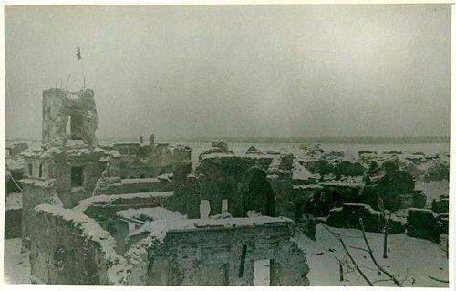 Крепость Орешек после обстрелов. 1943 год
