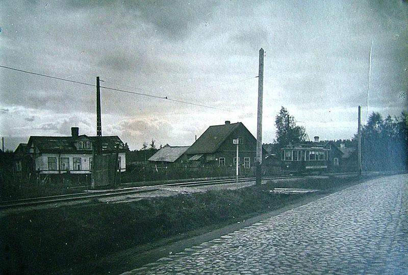 Пороховская трамвайная линия. Рябовское шоссе