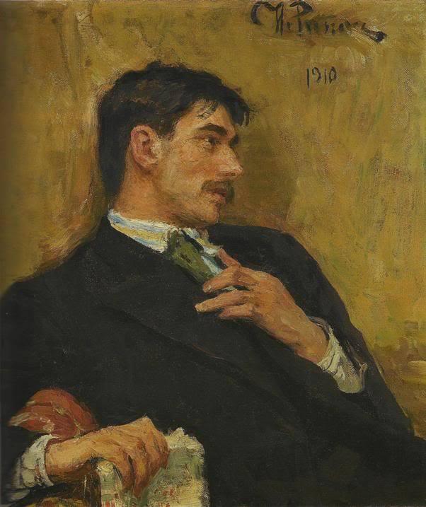 И.Е.Репин. Портрет поэта Корнея Ивановича Чуковского. 1910 год