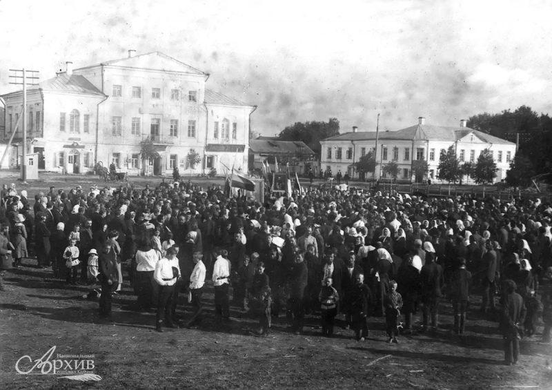 Молебен в день объявления войны в Вытегре