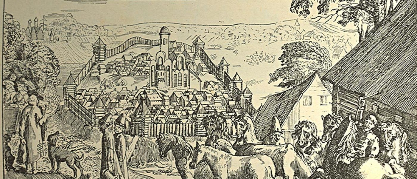 Новоторжский кремль и Спасо-Преображенский собор в Торжке