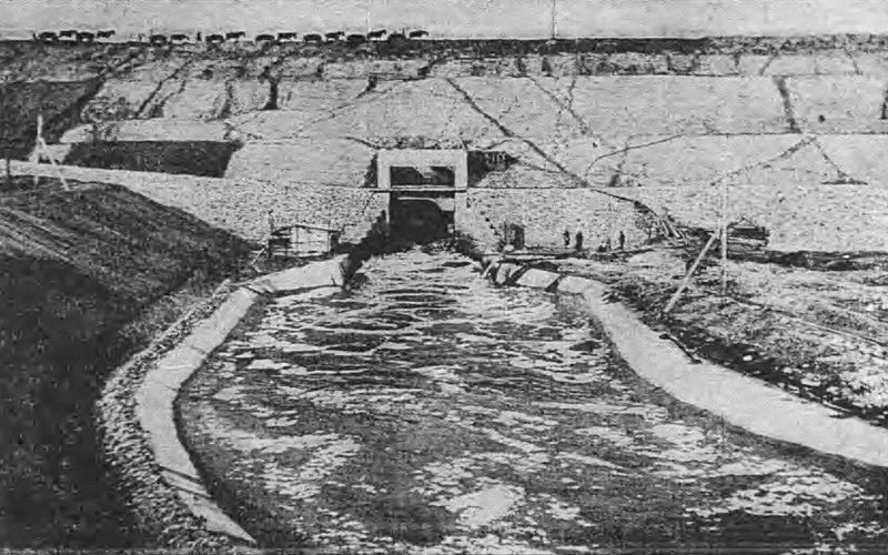 Строительство Акуловской плотины