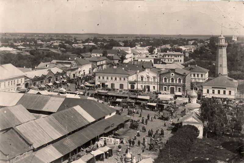 Вид с колокольни Троицкой церкви, Кимры