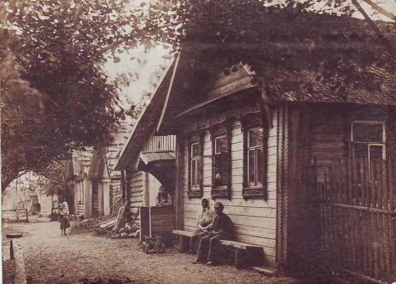 Дома в деревне Низовка. Источник: pastvu.com
