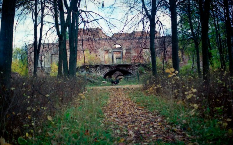 Парковый фасад главного дома усадьбы Ольгово, 1998 год