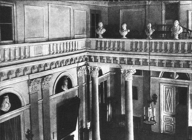 Парадный зал главного дома усадьбы Ольгово, 1950-е годы
