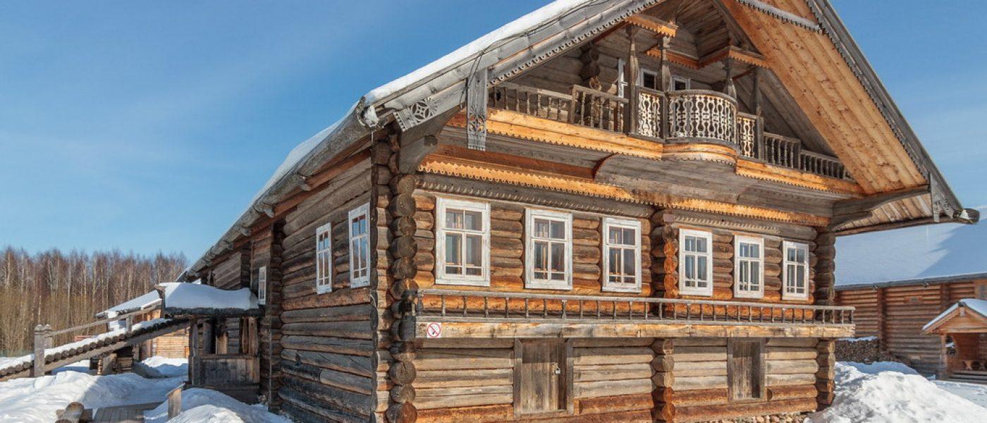 Деревянное зодчество Вологодской области в музее «Семёнково»: дом В.В.Храпова с сельской школой