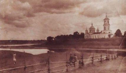 Ушедшее под воды Иваньковского водохранилища село Воскресенское на Шоше