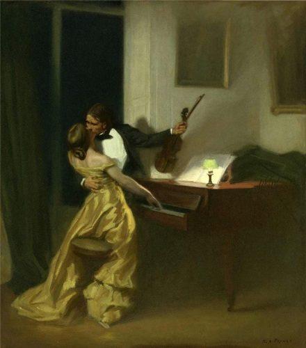 Крейцерова соната, картина художника Рене-Ксавье Прине, 1901 год