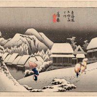 Хайку Басё: зимний сад под светом молодой луны