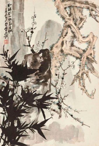 """Чжан Дацянь 张大千 (1899-1983) """"Три друга зимней стужи"""""""