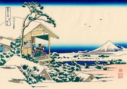 """Кацусика Хокусай (1760-1849). Снежное утро на реке Коисикава. Из серии """"Тридцать шесть видов Фудзи"""""""