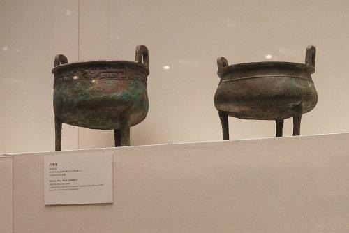 Триподы-дин, середина эпохи Западная Чжоу (1045 до н.э.-770 до н.э.). Национальный музей Китая, Пекин