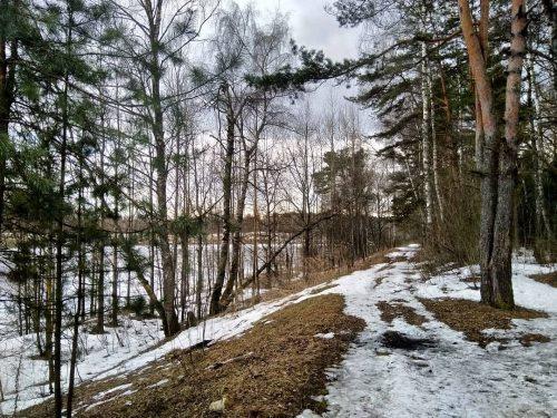 Дорожка вдоль канала имени Москвы, недалеко от Новосельцево (Московская область). Говорят, что Сталин с интересом изучал опыт строительства Великого Китайского канала.