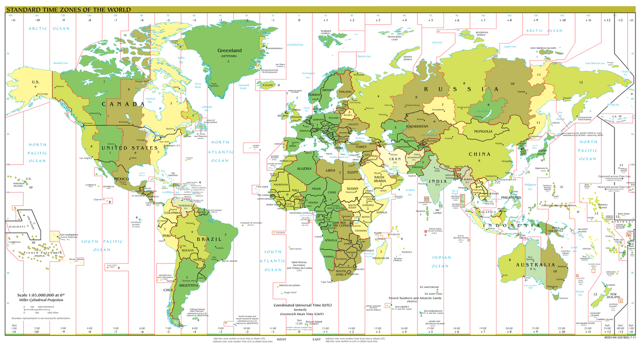 Current Time Around the World - Listed by City