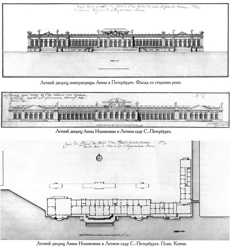 Чертеж Летнего дворца Анны Иоанновны