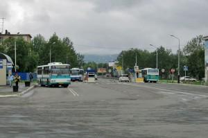 Автобусная остановка около аэропорта