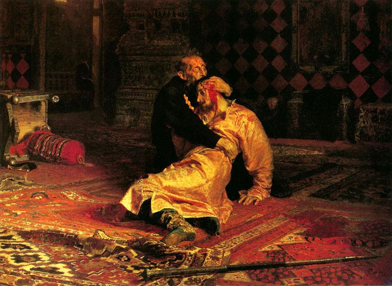 Илья Репин. Иван Грозный и сын его Иван 16 ноября 1581 года, 1883-85, Государственная Третьяковская галерея, Москва