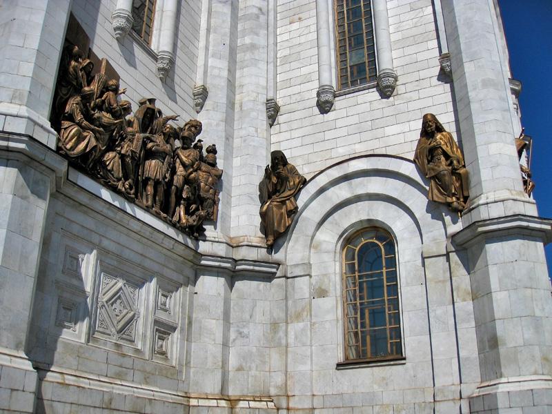 Барельефы Храма Христа Спасителя
