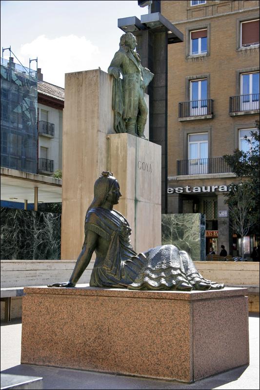 Памятник Ф.Гойе в Сарагосе
