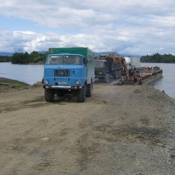 IFA на паромной переправе через Камчатку