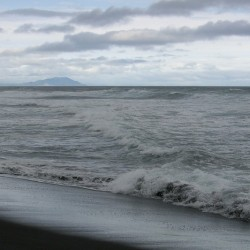 Тихий океан, Камчатка, Халактырский пляж