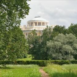 Павловский парк. Вид на Павловский дворец со стороны Долины прудов