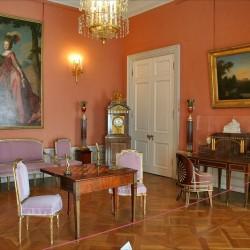 Павловский дворец, жилые комнаты I этажа. Малиновый кабинет