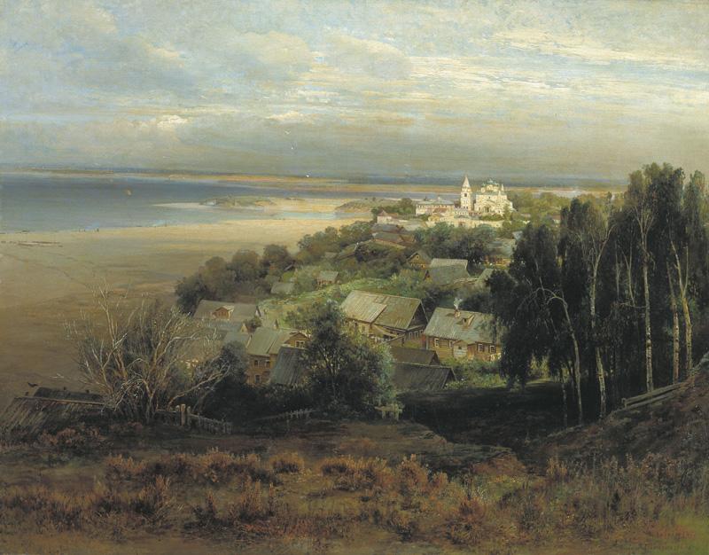 Саврасов. Печёрский монастырь близ Нижнего Новгорода