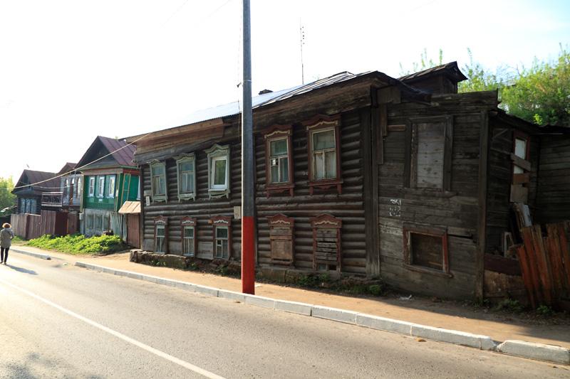Муром, старинные деревянные дома по Октябрьской улице