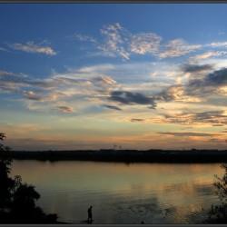 Волга, Дубна, закат