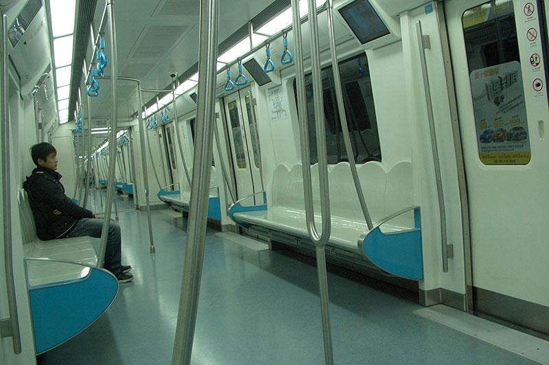 Вагон пекинского метро