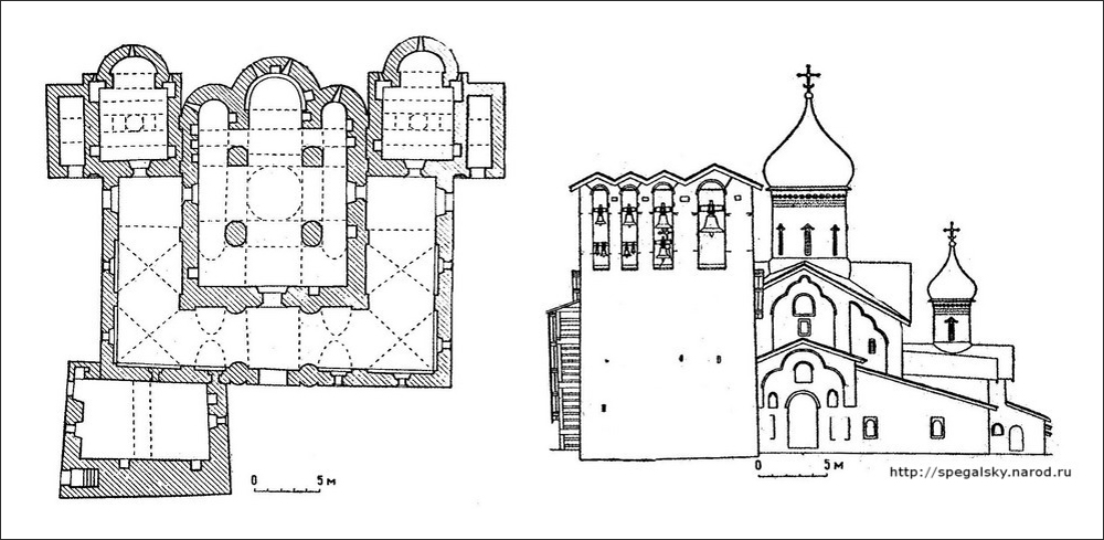 План церкви Богоявления с Запсковья