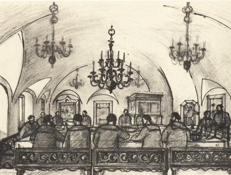 Столовая палата в богатом купеческом доме