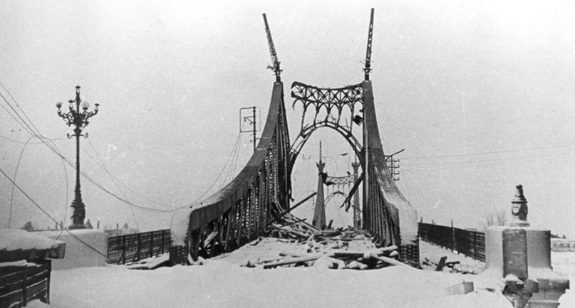 Староволжский мост в Твери, война