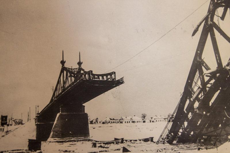 Староволжский мост в Твери, старые фото,