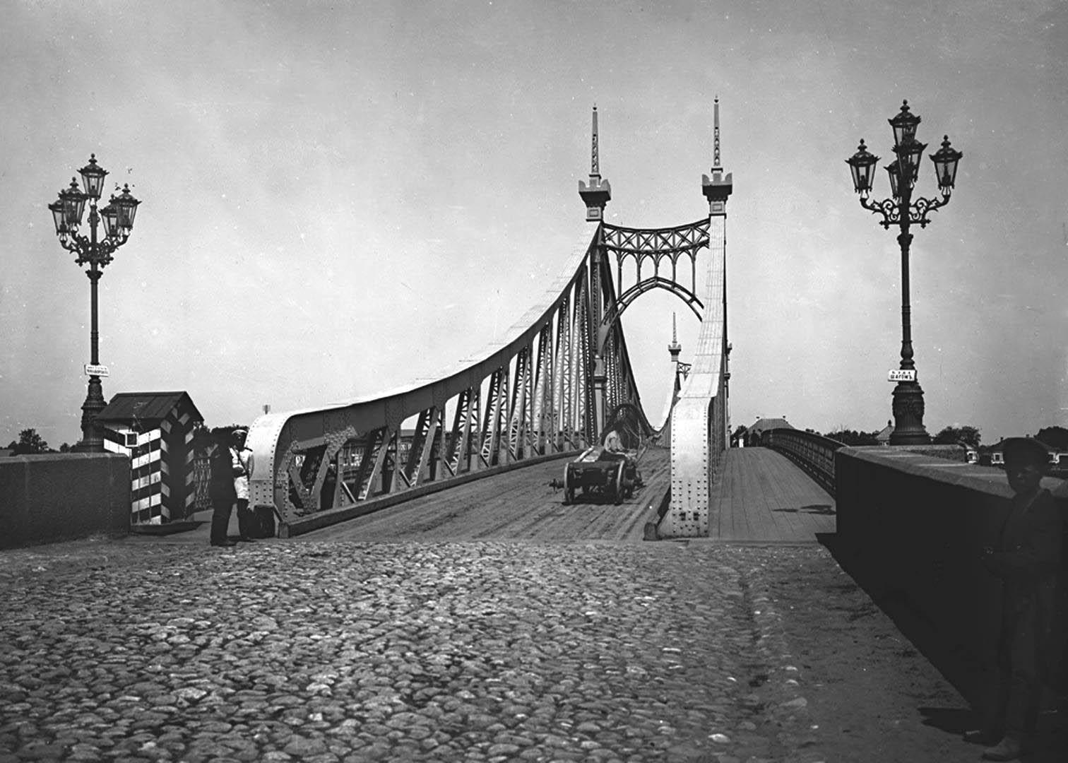 Староволжский мост в Твери, старое фото