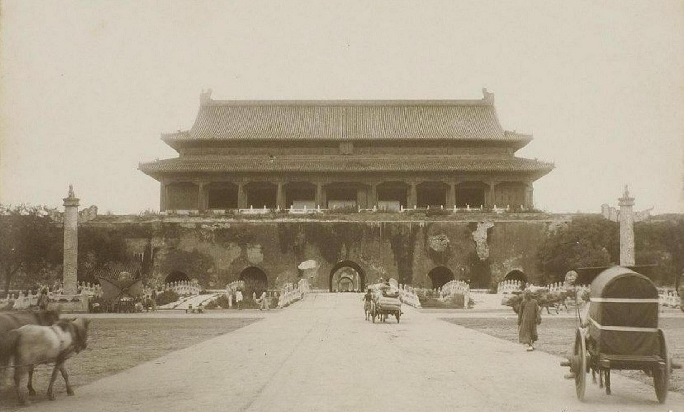 Ворота Тяньаньмэнь, старое фото, Китай
